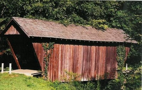 The Stovall Mill Covered Bridge is the shortest covered bridge in Georgia, USA