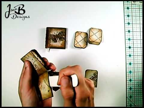 Micro Mini Album Tutorial  This is one of the best tutorials I've seen. It's clear and concise. These same steps could be used to make any size album.