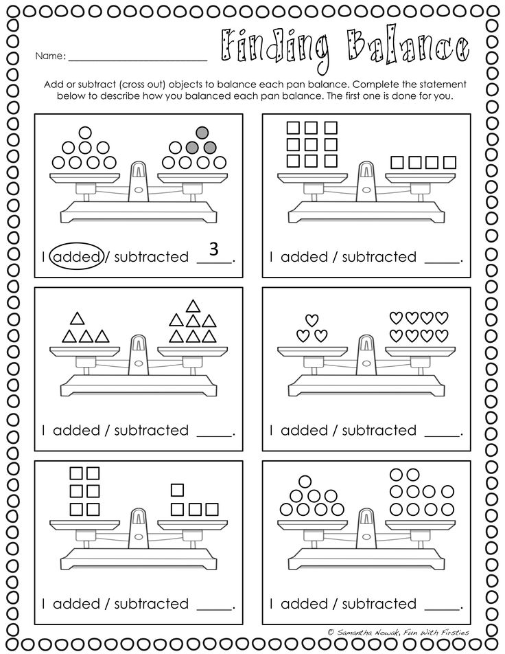 97 best equality images on Pinterest Balancing equations, Equals - algebraic subtraction worksheets