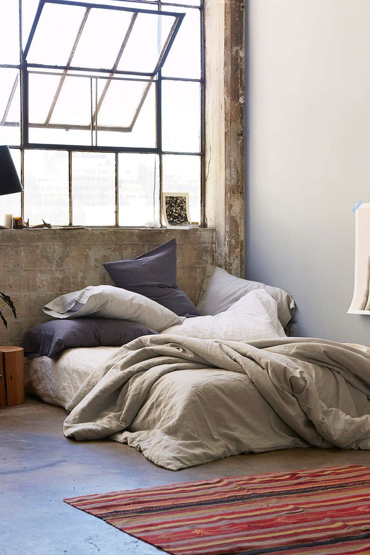 Housse de couette en lin mélangé Assembly Home - Urban Outfitters                                                                                                                                                                                 Plus