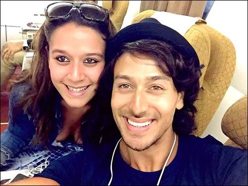 Tiger Shroff's family time with his younger sister Krishna Shroff.