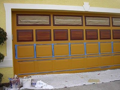 Best 25 painted garage doors ideas on pinterest metal for Faux wood grain garage door painting