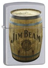 Zippo Lighter: Jim Beam Barrel - Satin Chrome