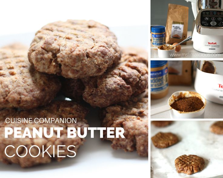 Peanut butter cookies made with Tefal Cuisine Companion