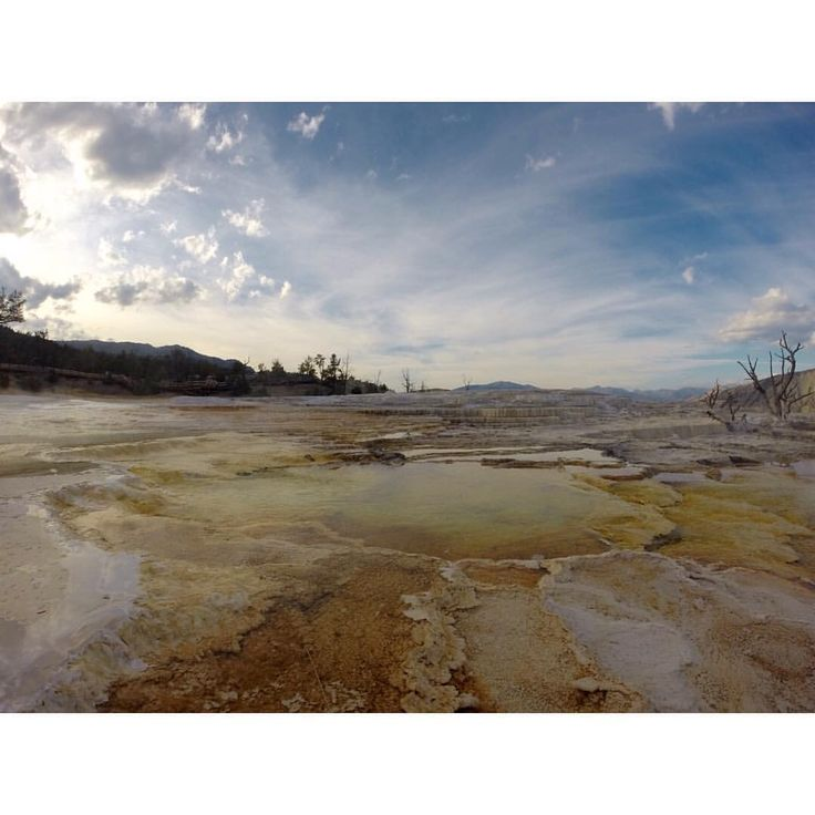 "Christina Paliyeva on Instagram: ""Day 1: Mammoth Springs #yellowstone #npscentennial @yellowstonenps #findyourpark #nationalpark #gopro @goodearth"""