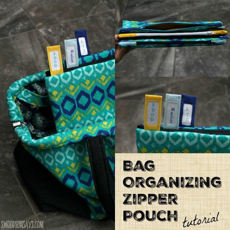Bag Organizer Zipper Pouch Tutorial   AllFreeSewing.com