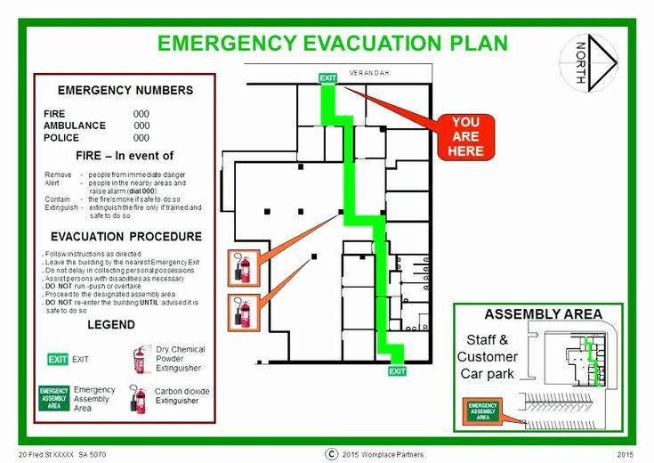Home Evacuation Plan Template in 2020 | Evacuation plan ...