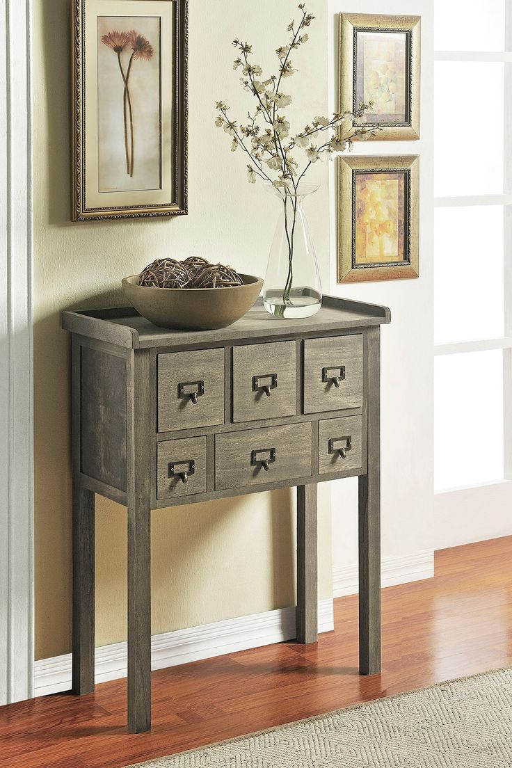 Grey Accent Console Table