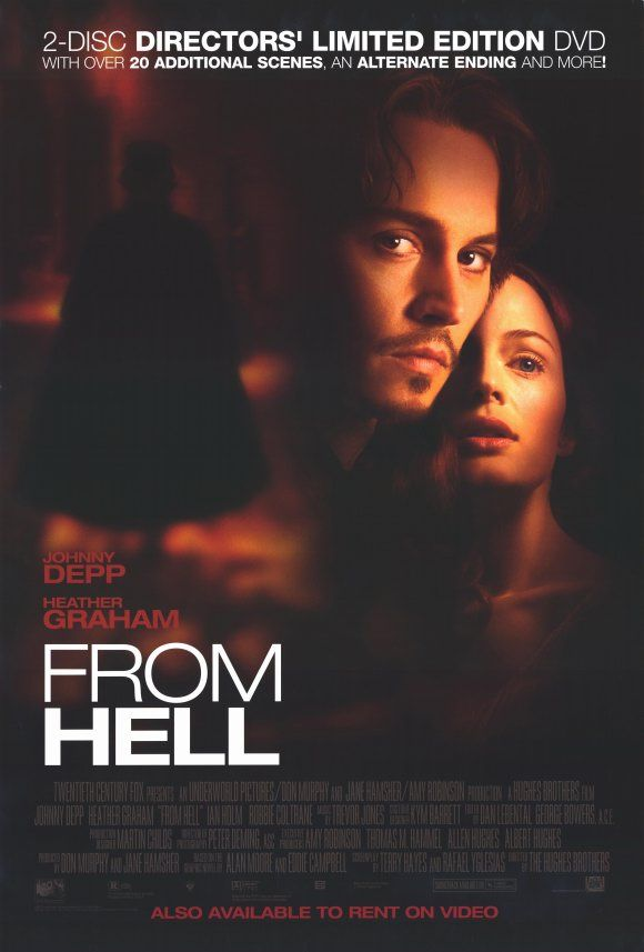 johnny depp movie posters | Johnny Depp From Hell Movie Reproduction Poster