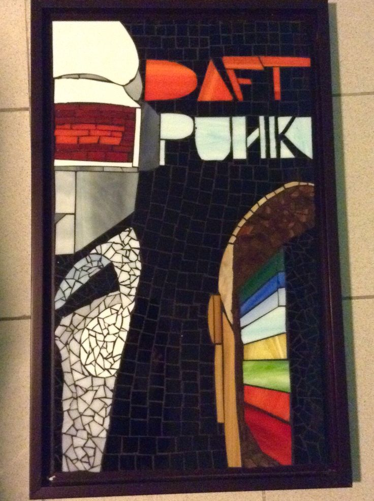 daft punk mosaic made by Cristina del Mar