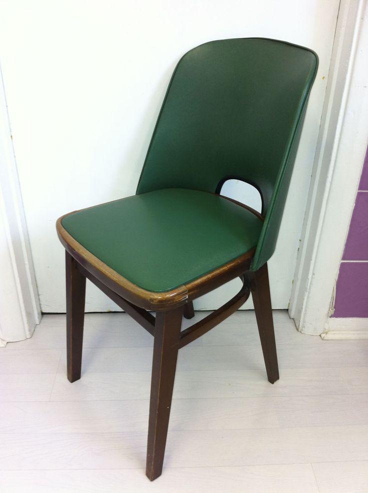 Beautiful Antique Yugoslavian SCULPTURAL Teak Desk Chair.