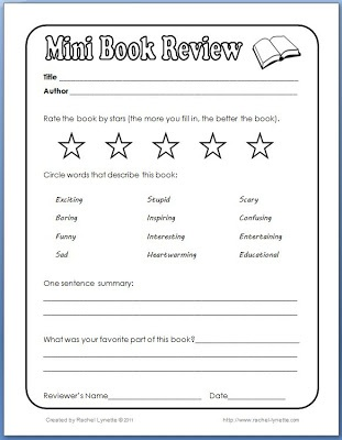 Best 25+ Book Review Template Ideas On Pinterest  Writing