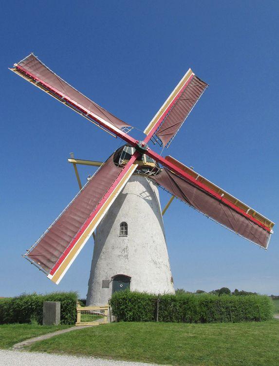 Flour mill Brassers Molen, Biggekerke, the Netherlands