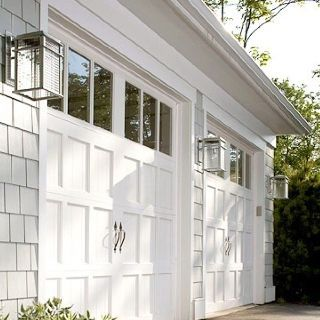 Clopay Reserve Collection Wood Garage Doors Painted White Rom Midwest Living 2006 Idea Home In Egg Harbor Wisconsin. Light Fixtures Echo Shape Of The Door . & Rom Roller Doors \u0026 Best 25+ Garage Door Windows Ideas On Pinterest ... Pezcame.Com