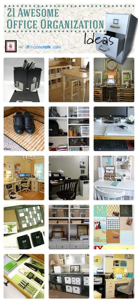 21 Awesome Office Organization Ideas | curated by 'Designed Decor' blog!