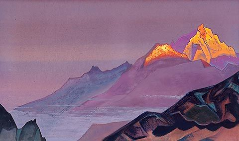 Path to Shambhala. 1933. Tempera on canvas. 46.5 x 78.5 cm. Nicholas Roerich