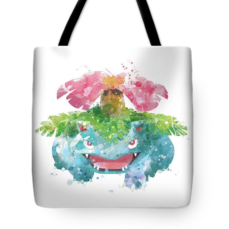 Pokemon Venusaur Tote Bag #pokemon #pokemongo #gift #wallart #totebag