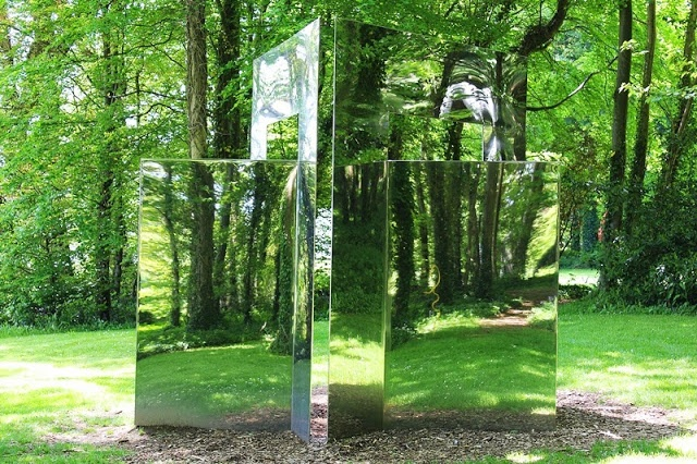 reflected trees - Cass Sculpture Foundation near Goodwood, Sussex