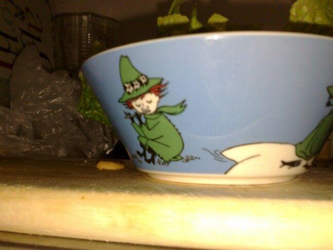 Snufkin cereal bowl