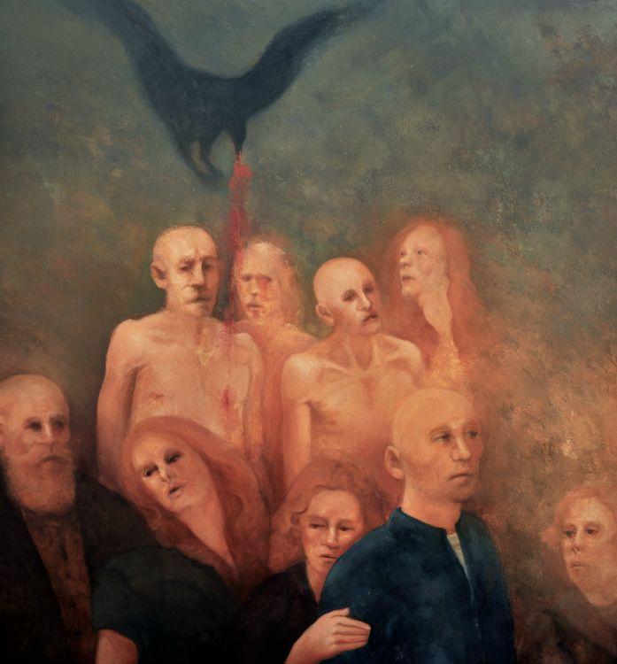 "Giorgio Pol. Ioannidis - ""Χοηφόροι"", 2015, oil on linen, 95 x 100 cm"