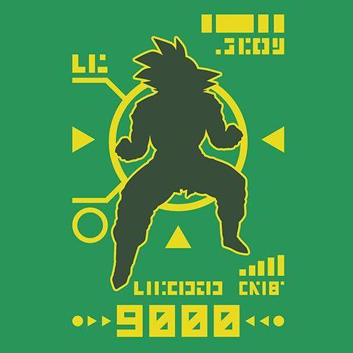DBZ Saiyan Power Over 9000 T-Shirt $12.99 Dragon Ball tee at Pop Up Tee!