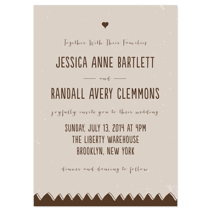 """""""Together with their families, we joyfully invite you to our wedding at  .... with dinner, dancing, and general merriment to follow"""" ;-)"""