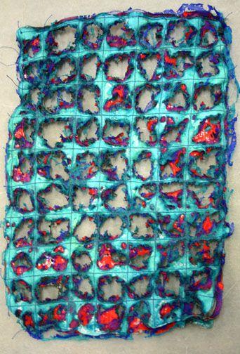 Kim's Hot Textiles: West Dean - Layered Textiles - Hot Techniques for jewelled surfaces - part 2
