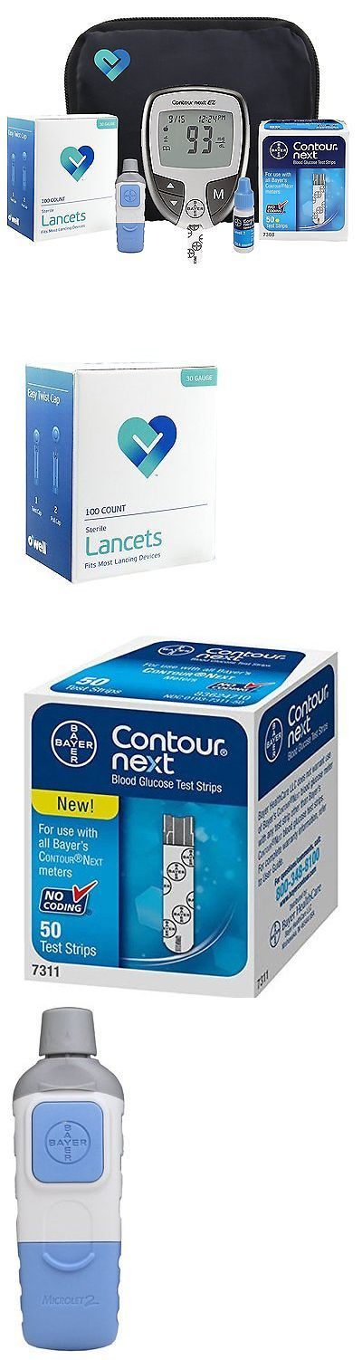 Glucose Monitors: Owell Bayer Contour Next Ez Complete Diabetes Blood Glucose Testing Kit, Meter, BUY IT NOW ONLY: $42.72