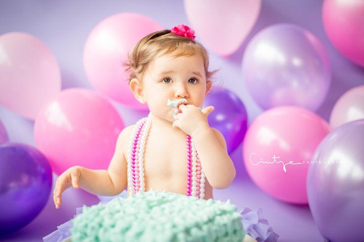 Sesión de Smash Cake, hermosa la modelo :)