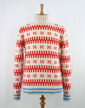 Mads Norgaard Mads Norgaard Karl Knit Jumper In Red on nuji.com | colour combination