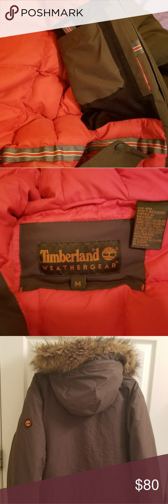Timberland parka Mens med. Perfect condition slight imperfection on brim of hood fur not that noticeable. Worn twice smoke and pet free home. No reasonable offer rejected! Timberland Jackets & Coats Trench Coats