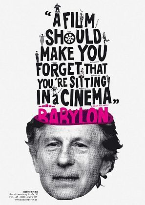Luca Bogoni, D BerlinPosters Inspiration, Film Quotes, Typography Quotes, Lucas Bogoni, Posters Design, Film Graphicdesign, Graphics Design, Film Posters, Kino Babylon