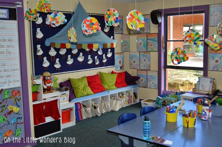 Collaborative Classroom Reading Curriculum : Reading area in the classroom kinderland collaborative