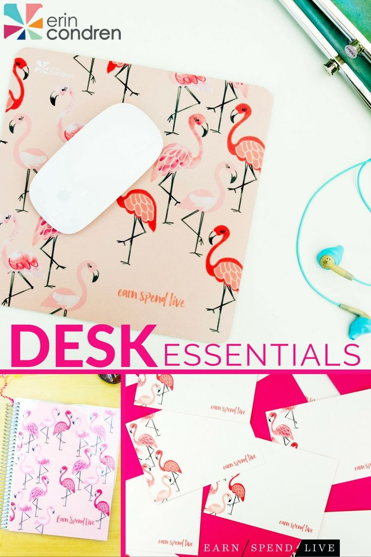 What better way to breathe a little life to your work space than with these fun Erin Condren desk accessories? Erin Condren is known for putting out high-quality, functional pieces that are also beautiful and fun.