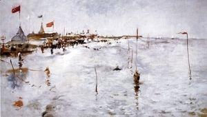 Coney Island From Brighton Pier  John Henry Twachtman