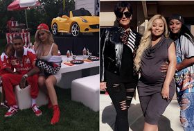 Kylie Jenner Blac Chyna Kris Jenner at tyga's Son king cairo's second Ferrari birthday party    Kylie Jenner happily took a back seat when her rapper beau Tyga threw a lavish birthday party for his little boy King Cairo who turned Four. Blac Chyna may be expecting another baby by her fiancé Rob Kardashian.  See more photos after the cut....Yet she's got plenty of attention left over for King Cairo Stevenson her son by previous baby daddy Tyga. On Saturday the eve of the toddler's fourth…