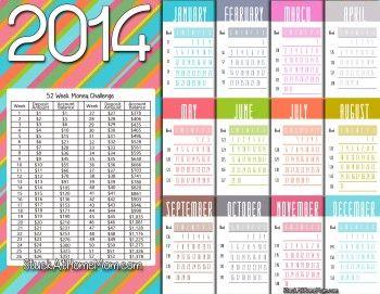 NEW Printable!!!   52 Week Money Challenge 2014