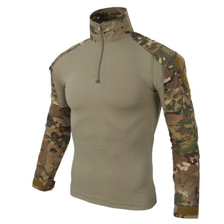 man Camouflage US Army Combat Uniform military shirt cargo multicam Airsoft paintball tactical cloth with elbow pads men clothes