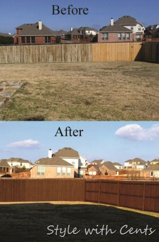 How to save 1,000 dollars staining your old fence to look like new. Genius idea ... if I do say so myself. ;)