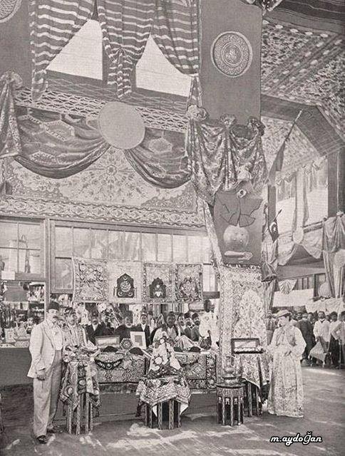 Chicago Dünya Fuarında Osmanlı Galerisi. Ottoman Exhibitions at the Chicago World fair - 1893
