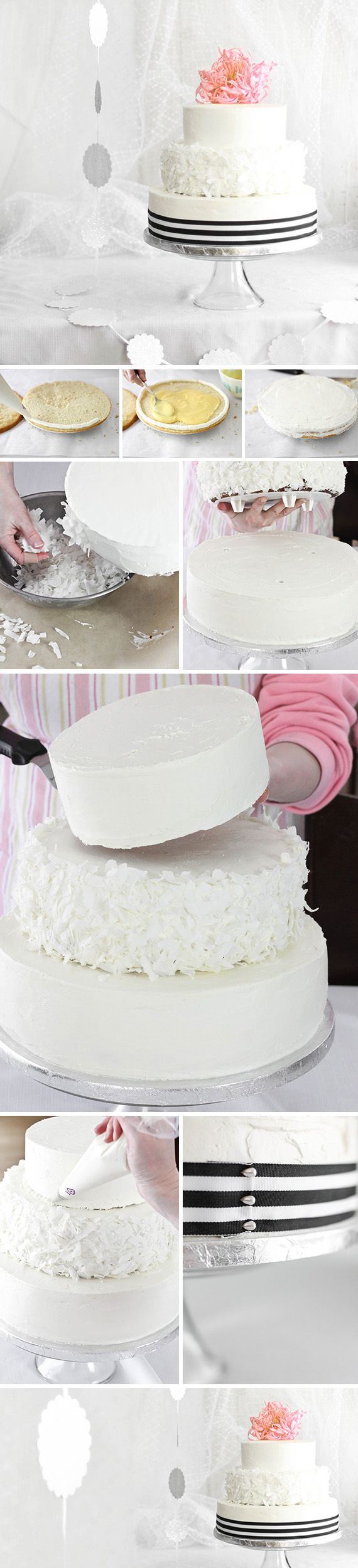 Making a wedding cake takes a good measure of bravery, but your guests will taste the love. Get started with this step-by-step, customizable recipe.