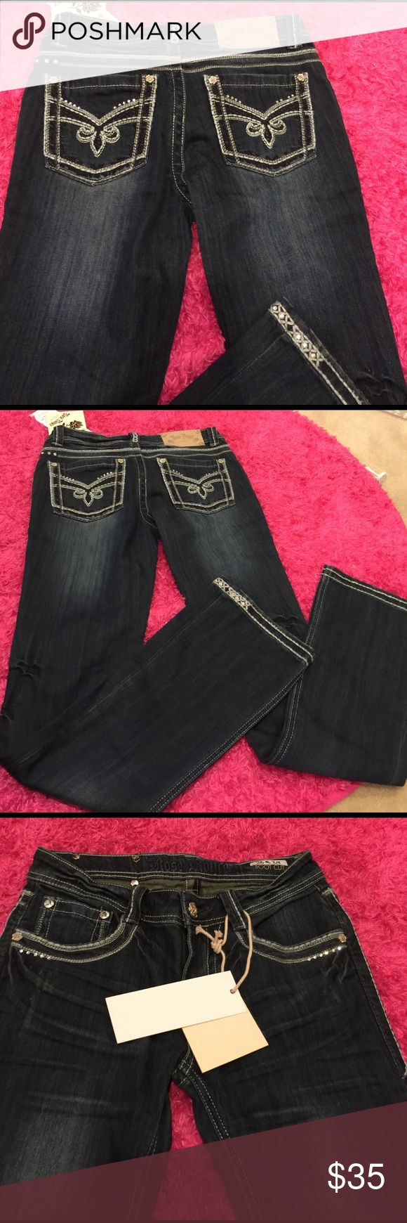 New rose Royce boot cut jeans 3/4 size 26 New size 26 or 3/4 rose royce Jeans Boot Cut