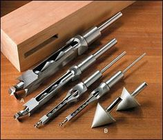 Premium Hollow Mortise Chisels & Bits - Woodworking