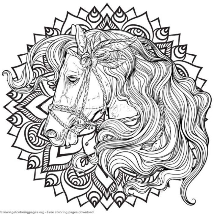 5 Horse Mandala Coloring Pages Getcoloringpages Org Mandala