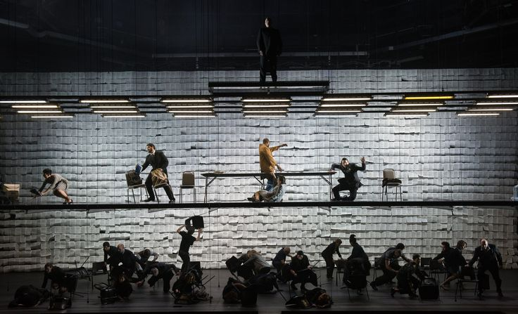 Between Worlds Tansy Davies composed and Deborah Warner directed this opera at the Barbican in London about the Sept. 11 terrorist attacks. Designed by Michael Levine