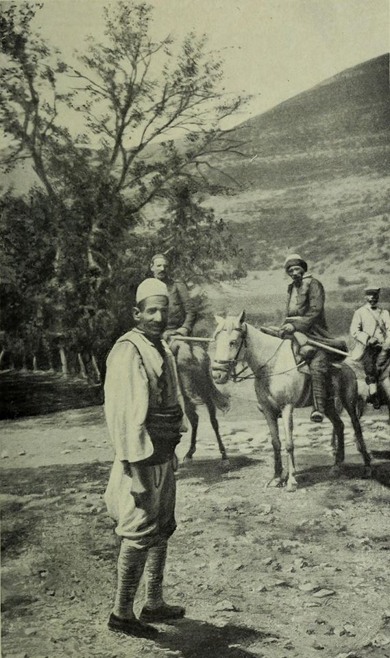 From Prizren to Kukes. Stopping at the lodge of an Albanian 1913. Unknown Albania (Gabriel Louis Jaray)
