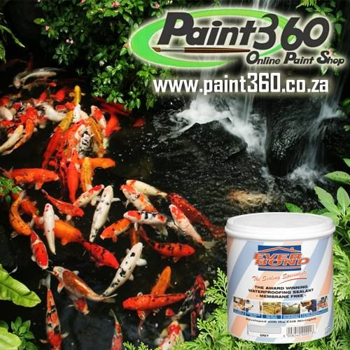 Need to waterproof your Fish Pond? Try our NON-TOXIC Everbond Waterproofing Product.  http://www.paint360.co.za/paint-shop/waterproofing-range/everbond