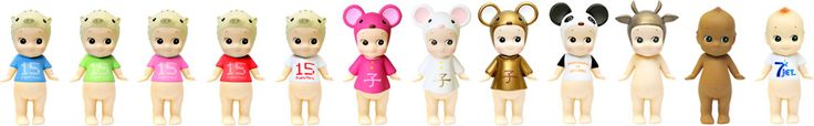 "Sonny Angel Limited Edition Dolls (FrancFranc Blue, Green, Pink, Red & White - Pink, White & Gold Mouse - ""Marchand de Legumes"", Gold Cow, Black Doll & Jet Magazine 7th Anniversary)"