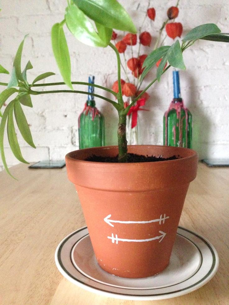 housewarming painted pot