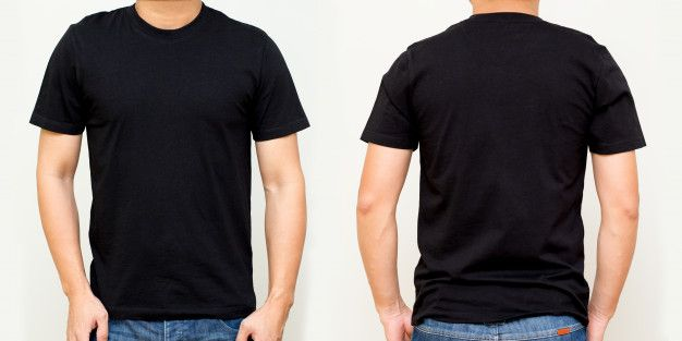 Download Black T Shirt Front And Back Mock Up Te Free Photo Freepik Freephoto Freedesign Freetemplate Free Blank T Shirts T Shirt Png T Shirt Design Template